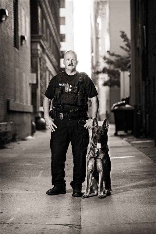 Police Officer with K9 Partner